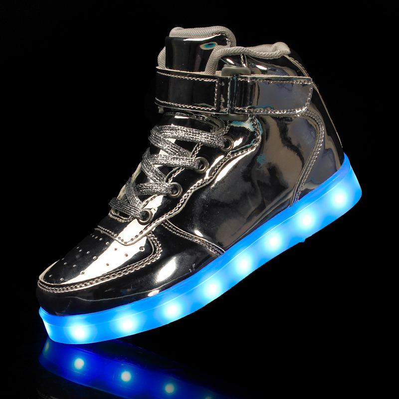 KRIATIV Eur Size 25-42 High Quality Kids Light Up Shoes Luminous Sneakers for Boy&girl USB Charge LED Slippers Glowing Sneakers