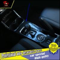 Completo panel de engranajes cubierta ABS Chrome recortar 1 unids para Mitsubishi Outlander 2013-2016 panel de engranajes cubierta de la taza de agua accesorios del coche del ajuste