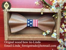 Handmade wood bow tie wooden tie wooden bow designer accessories for men