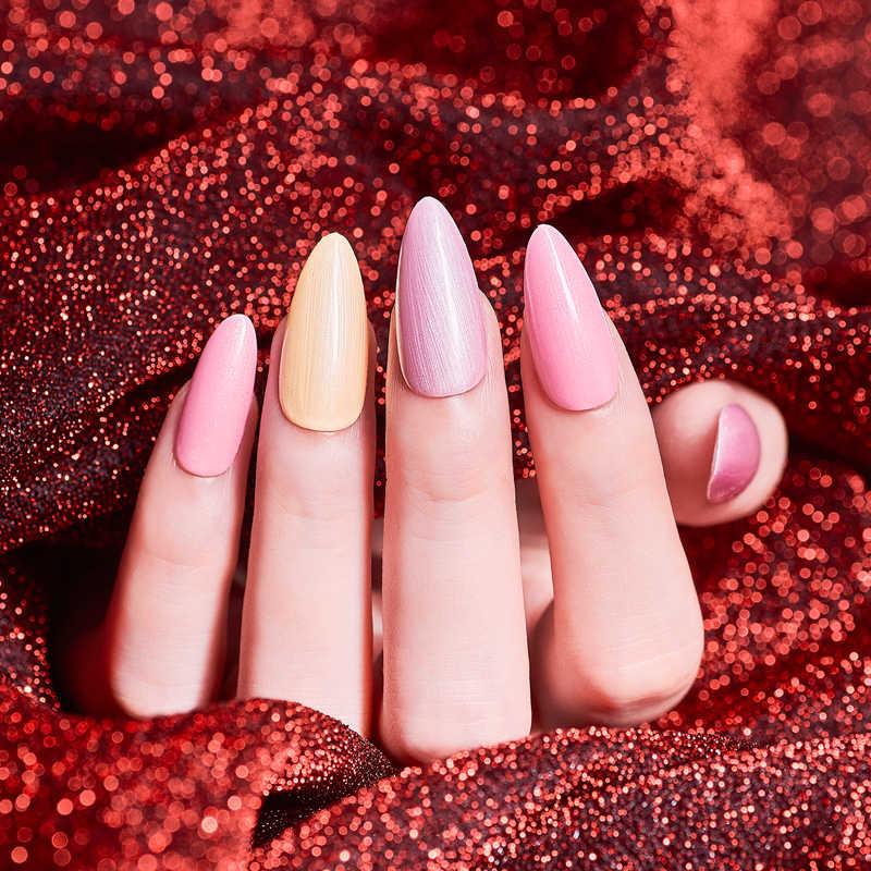 SODDISFARE ATTRAVERSO Nude Gel Smalto 7ml UV Gel Per Unghie Nail Polish Semi Permanente Hybrid Nails Art Off Prime Bianco smalto di Chiodo Del Gel
