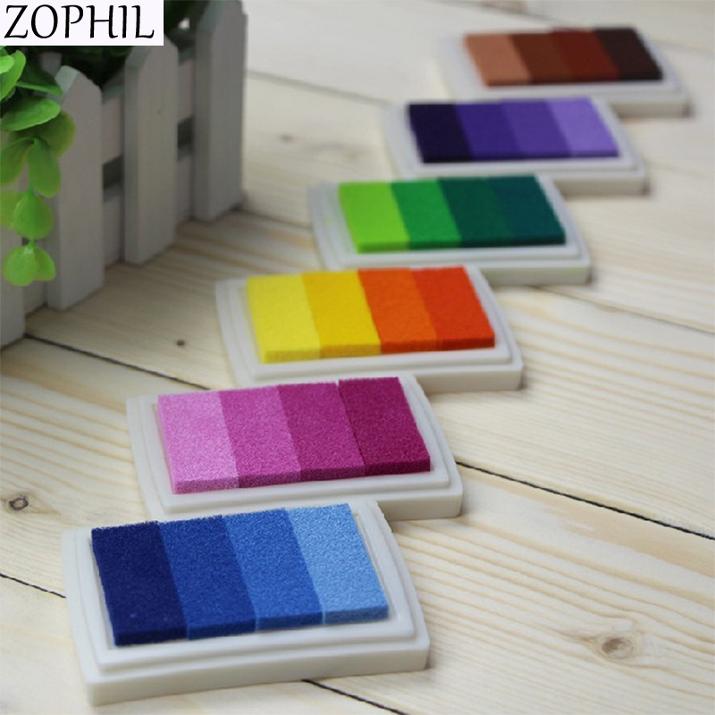 Decoración Para evento de Boda Multicolor DIY almohadilla de tinta de aceite favorece fiesta decoraciones Libro de Visitas firma huella dactilar aniversario Boda