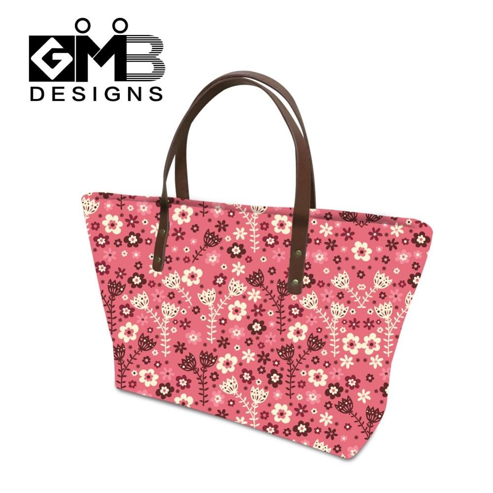 Jasne torbice Totes cvetlične ženske torbice velike torbe torbice - Torbice - Fotografija 1