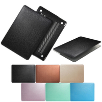 Newest Two Sided Skin PU Silk Lines Leather Case For Macbook Surface Laptop Bag For Mac
