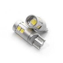 2x супер яркий t10 w5w автомобилей лампа 9 smd 3030 EMC автоматическое чтение парковка туман габаритный задний свет 152 194 12 В белый 6000 К