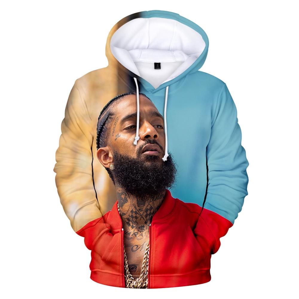 Print Hoodies Rapper Nipsey Hussle 3D Men/women Comfortable Famous New-Fashion
