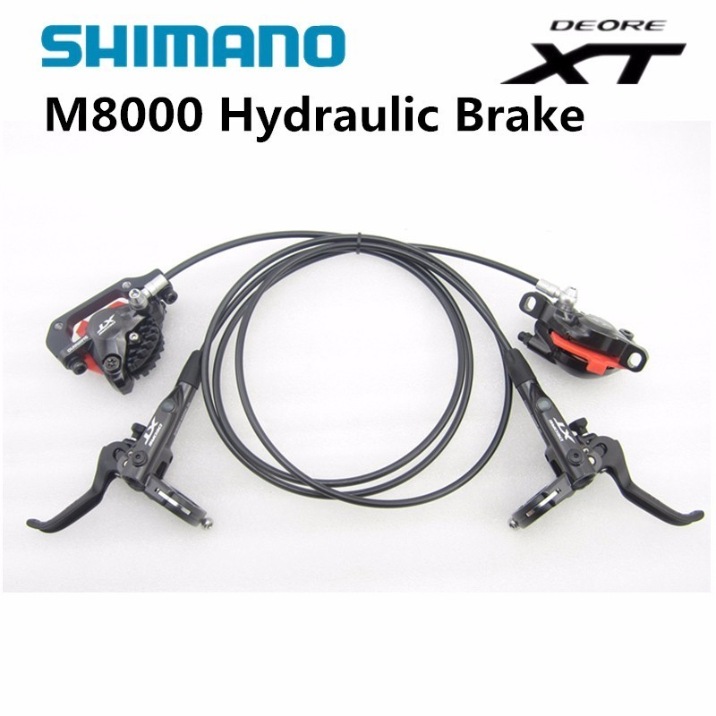 shimano Deore XT M8000 Hydraulic Brake set front and rear for MTB Mountain Bike bicycle полукеды dc shoes кеды низкие