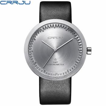Zimowa wyprzedaż wyprzedaż marka skórzany pasek analogowy męski zegar kwarcowy moda Casual sport zegarki mężczyźni wojskowy zegarek na rękę tanie i dobre opinie CRRJU Klamra 3Bar QUARTZ Stop 23cm Hardlex 10mm 22mm ROUND Kwarcowe Zegarki Na Rękę Papier CJ-2125 Skóra Odporne na wodę