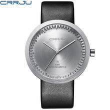 Zimowa wyprzedaż wyprzedaż marka skórzany pasek analogowy męski zegar kwarcowy moda Casual sport zegarki mężczyźni wojskowy zegarek na rękę tanie tanio CRRJU Klamra 3Bar QUARTZ Stop 23cm Hardlex 10mm 22mm ROUND Kwarcowe Zegarki Na Rękę Papier CJ-2125 Skóra Odporne na wodę