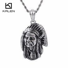 KALEN Vintage Hexe Anhänger Halskette Für Männer Frauen Edelstahl Tribal Chef 50 CM 55 CM 60 CM Kette Halskette schmuck