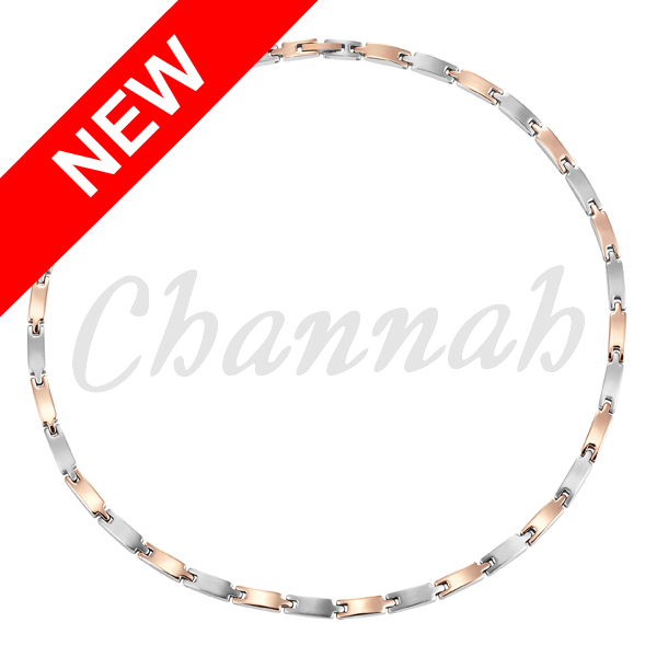 Channah 2017 Women Stainless Steel Necklace Love Ladies Magnetic 2-Tone RoseGold 34pcs Magnets Free Shipping Charm Gift Jewelry