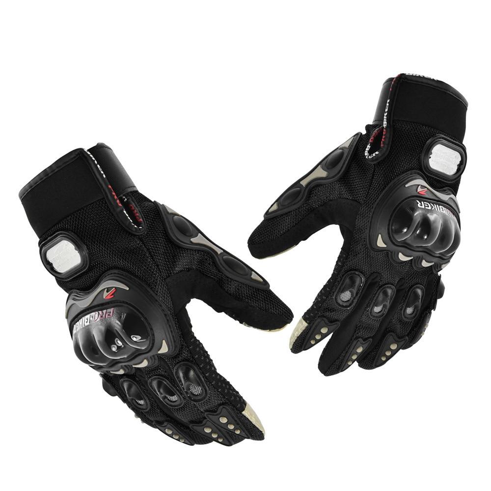 PRO-BIKER Luvas Da Motocicleta Dedo Completo Cavaleiro Equitação Luvas de Esporte Motorcross Ciclismo Lavável Moto Guantes Luva Preta M / L / XL
