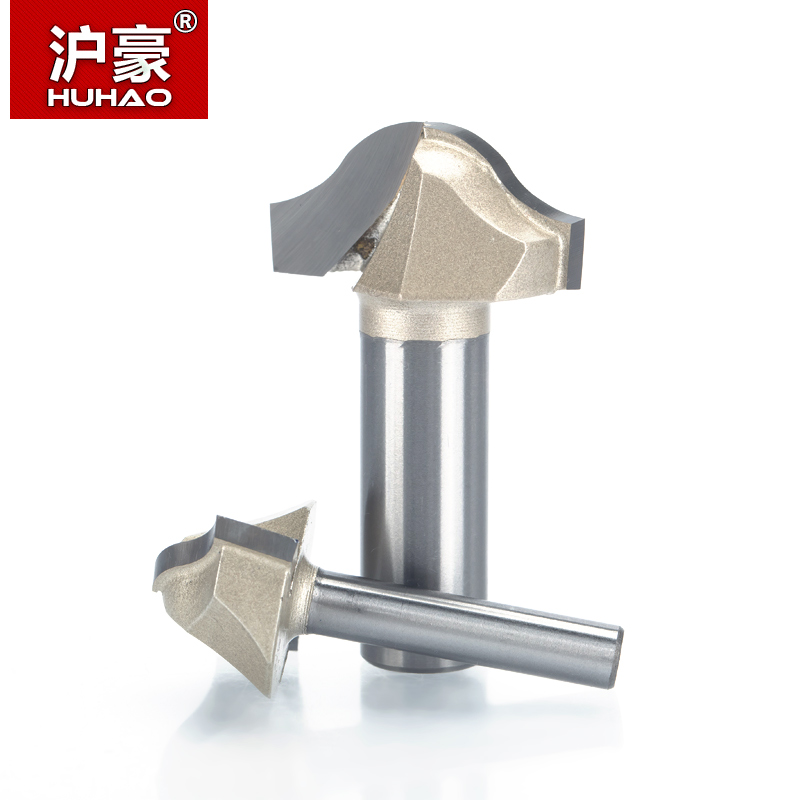 HUHAO 1pc Trim router bit 1/2 1/4 Shank Woodworking Tools Trimming Cutters woodworking tool endmill milling cutter high grade carbide alloy 1 2 shank 2 1 4 dia bottom cleaning router bit woodworking milling cutter for mdf wood 55mm mayitr