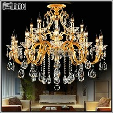 HOT! Modern Gold Crystal Chandelier Light Fixture Lustre Hanging Lamp with Top Class K9 MD88008