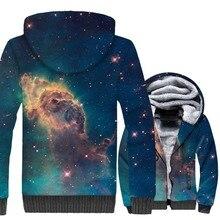 Sweatshirts Men 2018 3D Space Galaxy Men's Hoodies Hip Hop Unisex Zipper Jackets Harajuku Winter Thick Coat For Men Green Jacket hot sale mens clothing 2018 dragon ball 3d hoodies hip hop unisex sweatshirts harajuku men s coat winter thick masculine jackets