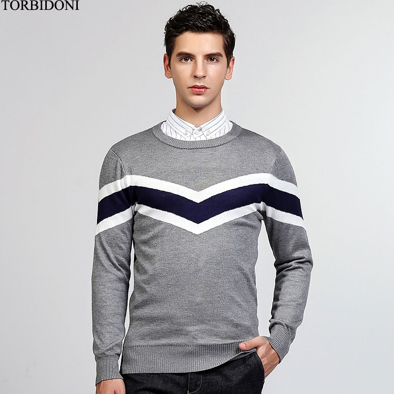 Knitted Sweater Men Autumn Sweater Brand Clothing Pullover Winter Slim Chompas Para Hombre Mens Casual England Knitwear M-XXL