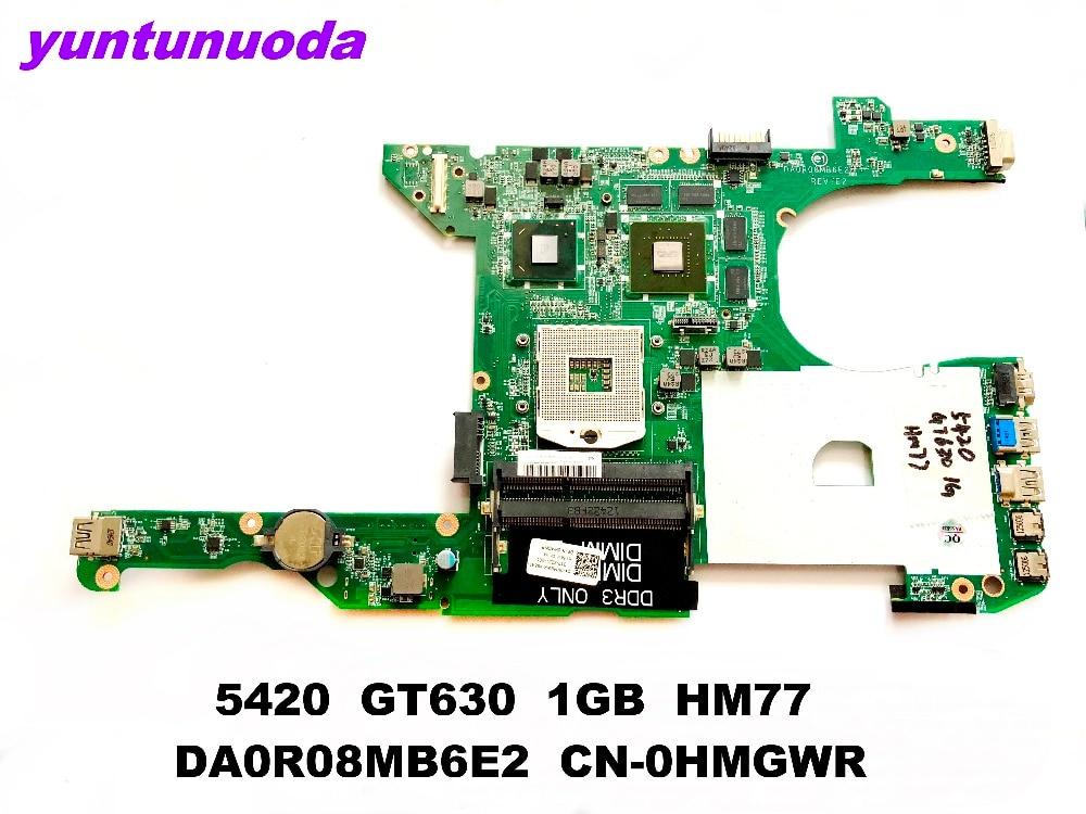 D'origine pour DELL 14R 5420 ordinateur portable carte mère 5420 GT630 1 GB HM77 DA0R08MB6E2 CN-0HMGWR testé bonne livraison gratuite