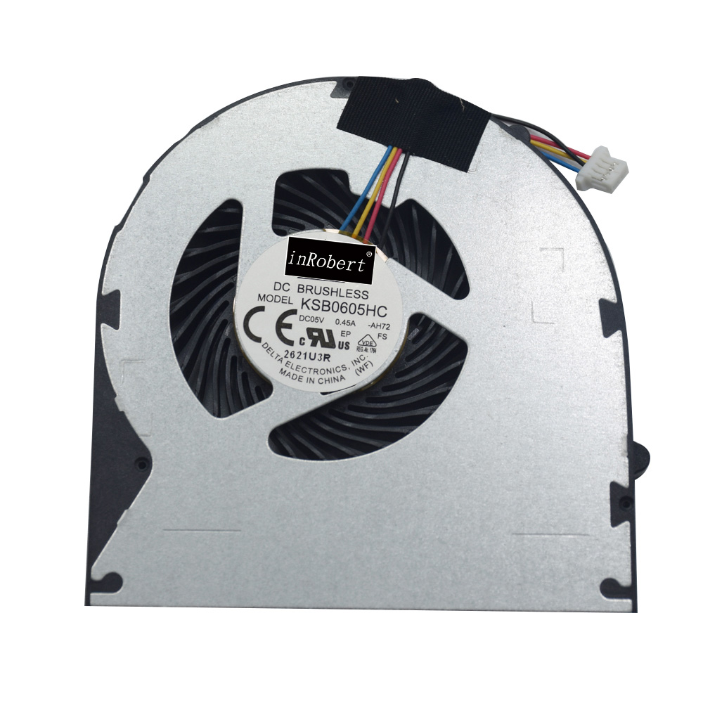 Original New Laptop Cooler Fan KSB0605HC AH72 -AH72 0.45A For Lenovo Ideapad B570 B575 V570 Z570 DC Brushless CPU Cooling Fan 2200rpm cpu quiet fan cooler cooling heatsink for intel lga775 1155 amd am2 3 l059 new hot