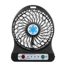 Оптовая продажа droshipping автомобиль-Стайлинг Портативный Перезаряжаемые свет вентилятор воздушный охладитель стол мини USB 18650 Батарея вентилятор