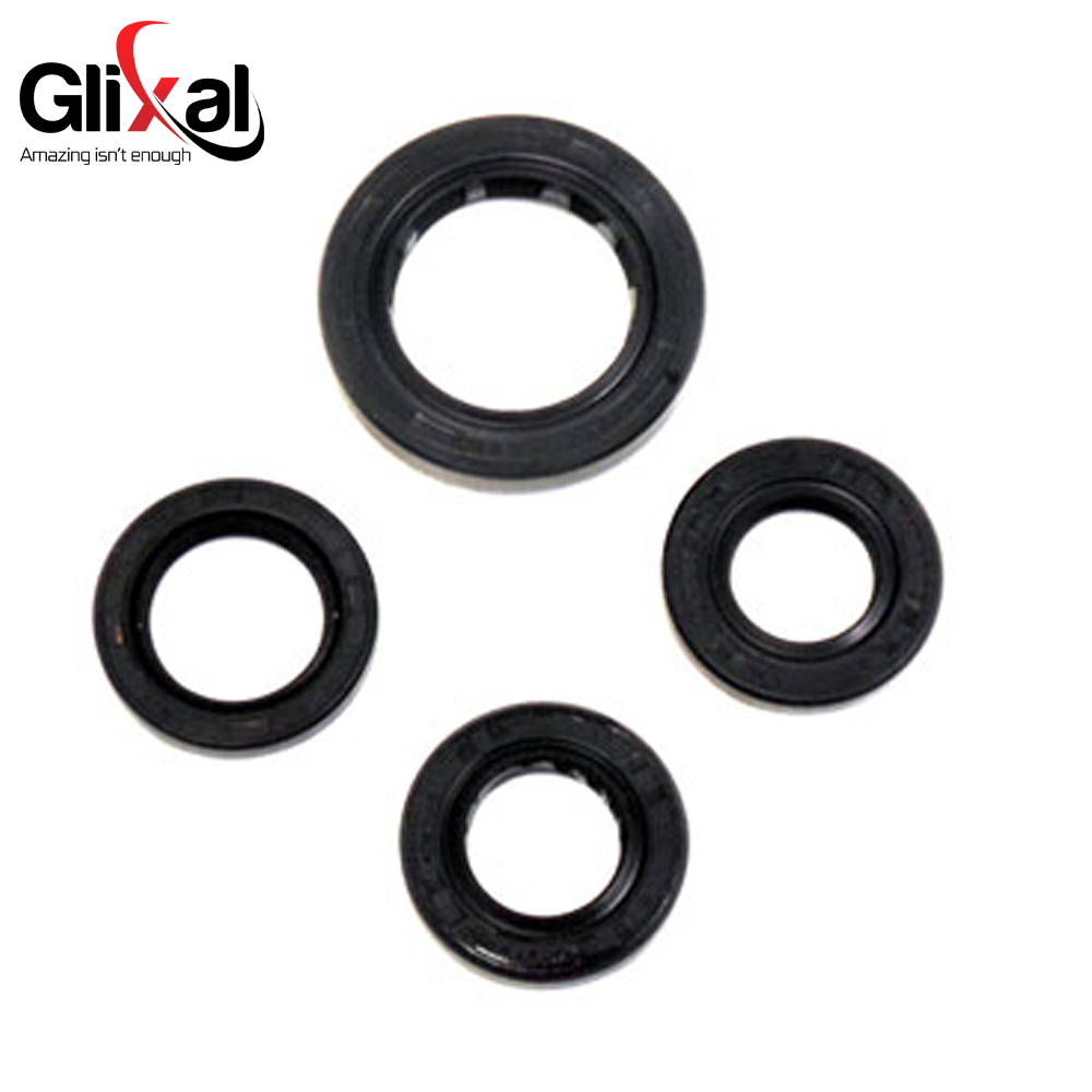4 Pcs Rubber Engine Crankshaft Gear Crank Case Oil Seal for