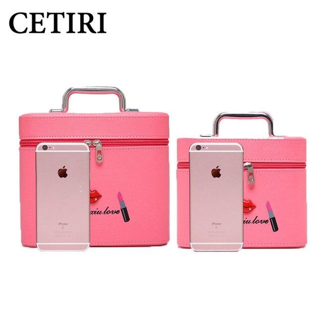 Luxury Women's Cosmetic Bags Zipper Letter Lipsticks Print PU Leather Makeup Bag Cosmetic Case Organizer Storage Bags women 2017