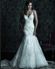 free shipping bridal gown vestidos de novia marriage 2014 romantic new hot sexy bride appliques mermaid lace wedding Dresses