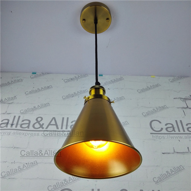 antique bronze color industrial iron shade pendant lamp retro loft ac110v220v e27 vintage brass