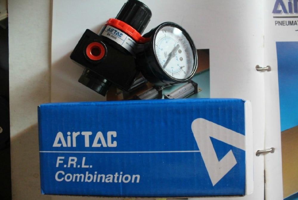 NEW AIRTAC genuine original valve pressure regulating valve BR3000 airtac new original authentic solenoid valve 4v420 15 ac220v