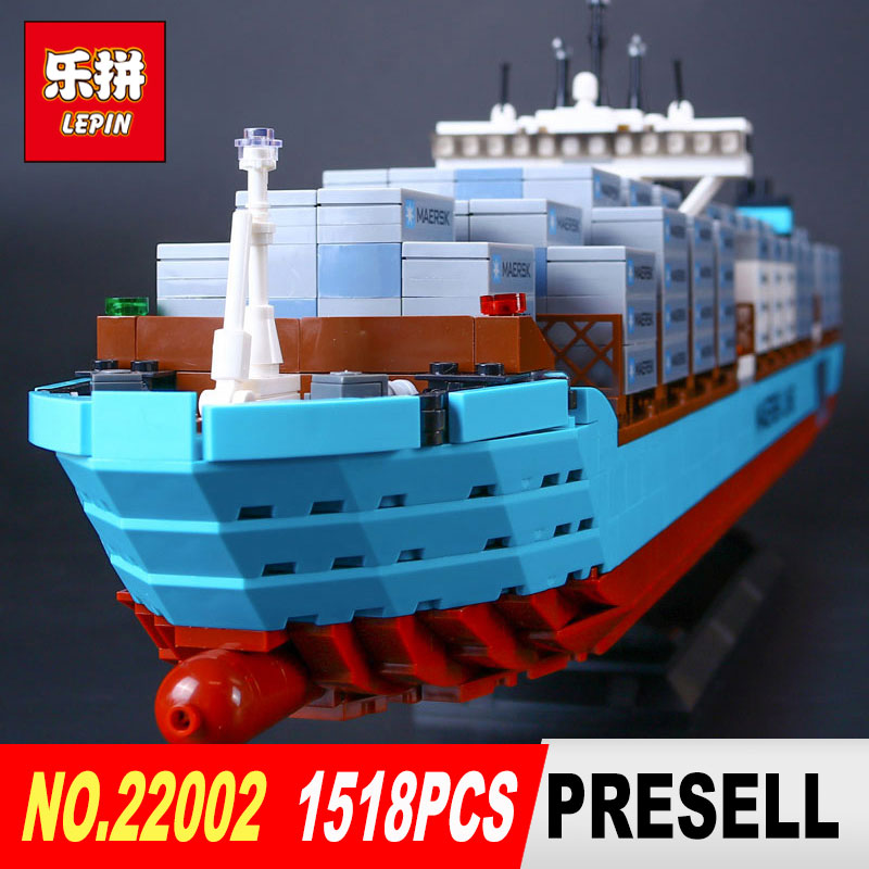 Lepin 22002 Technic Series The Maersk Cargo Container Ship Set 10241 Building Blocks Bricks Educational Model for Children Toys 2017 new 10680 2324pcs pirate ship series the slient mary set children educational building blocks model bricks toys gift 71042