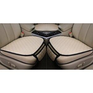 Image 5 - カーシートカバーセットユニバーサル自動車シートカバーの通気性亜麻自動席クッションパッドプロテクターカースタイリングアクセサリー