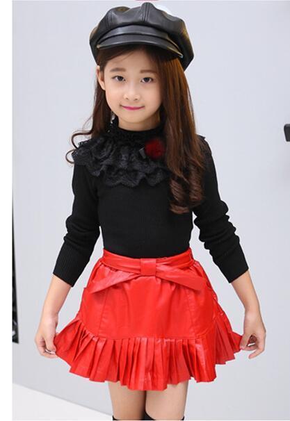 2016 de invierno de ropa para niños niñas suéteres jersey delgado cuello alto espesar fleece baby girl de punto suéteres para niñas niños