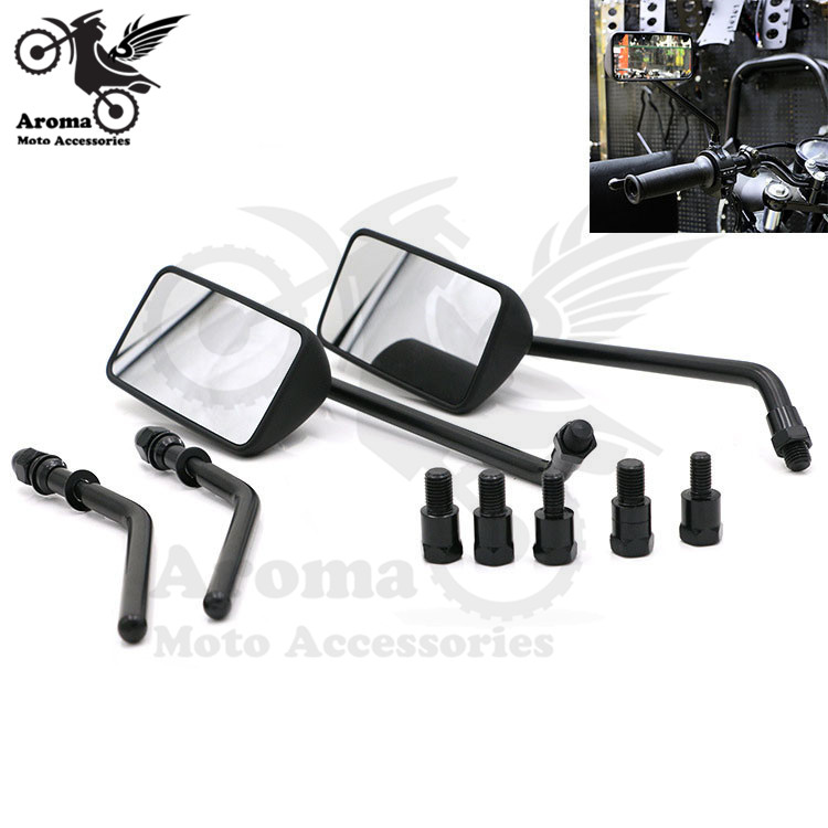 brand new black dirt pit bike part motocross mirror scooter motorbike rearview moto mirros for harley motorcycle rearview mirror