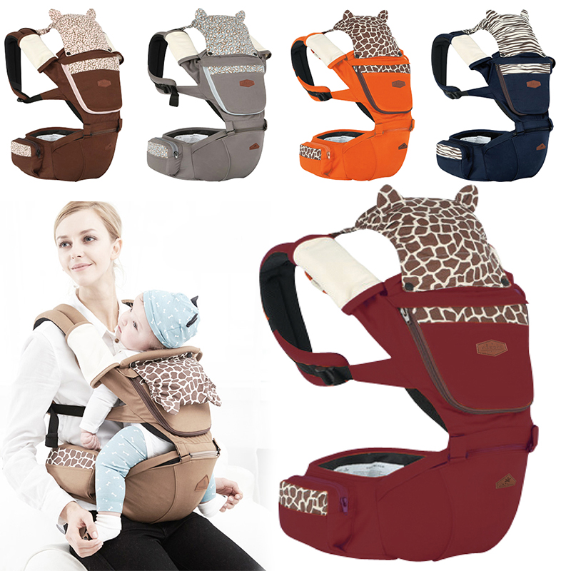 New 1 Pcs 5 Color Ergonomic Baby Carrier Anti-shock Backpack Hip Seat Baby Infant Detachable Baby Sling Stool Waist Baby baby comfort hip seat waist stool new design baby toddler front carrier baby shoulder sling backpack classic popular suspender