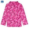 Горошек мило с длинным рукавом девушка футболка 2016 nova дети дети девочка одежда розничная одежда девушки новая коллекция весна носить