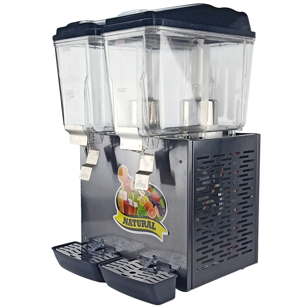 Commercial Juice Cooling Making Machine Two-cylinder Juice Dispenser Drink Container Cold Drink Machine
