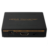 1080P HDMI To HDMI Optical SPDIF Suppport 5 1 RCA L R Audio Video Extractor Converter