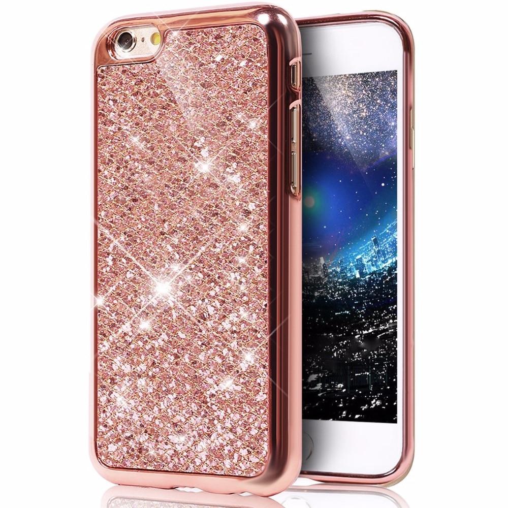 Fashion Glitter Powder TPU Back Cover Case For iPhone 5 SE 5S 6 6S Plus 6Plus 6SPlus 7 8 Plus X Ten 10 Back Shell Case Coque