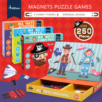 Mideer Children paper puzzle magnetic puzzle traffic geometric Activities Dressing Funny face puzzle toys