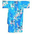 Light Blue Chinese Women's Silk Rayon Robe Kimono Bath Gown Nightgown Size S M L XL XXL XXXL Free Shipping S0001