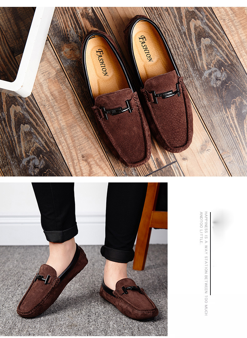 Men's Top Brand Fashion Casual Soft Loafers Suede Boat Shoes Male Footwear Adult Drivings Summer Moccasins Hommes Plus Size 11 66