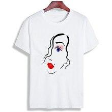 Women Tshirt Eyelash Quote Simple Artwork Print Short Sleeve Tops & Tees Fashion Casual T Shirt