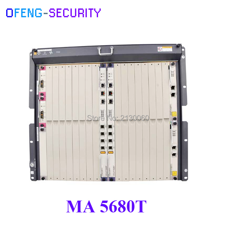 HuaWei Original MA5680T OLT In Fiber Optic Equipment With (Chassis + SCUN*2 + X2CS*2 + PRTE*2) Without Olt Service Board