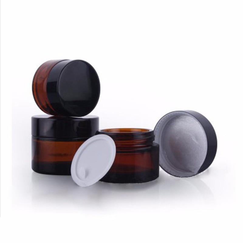 Amber Round Glass Jar