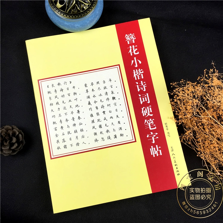 Chinese character poems pencopybook Chinese Regular script calligraphy pen copybook with 252 pages for practice hanzi 3pcs chinese character picture books dictionary for advanced learning chinese character hanzi early educational textbook course