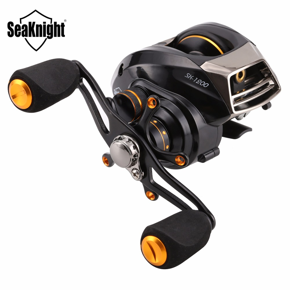 SeaKnight SK1200 Baitcasting Fishing Reel 14BB 6 3 1 4KG Wheel Double Power Systems Aluminum Spool