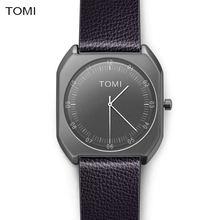 TOMI Marca Nueva Moda de lujo Elegante mujer Relojes Simple Ultra Thin dial Casual Male Reloj de Cuarzo Hombre Reloj de pulsera de Regalo