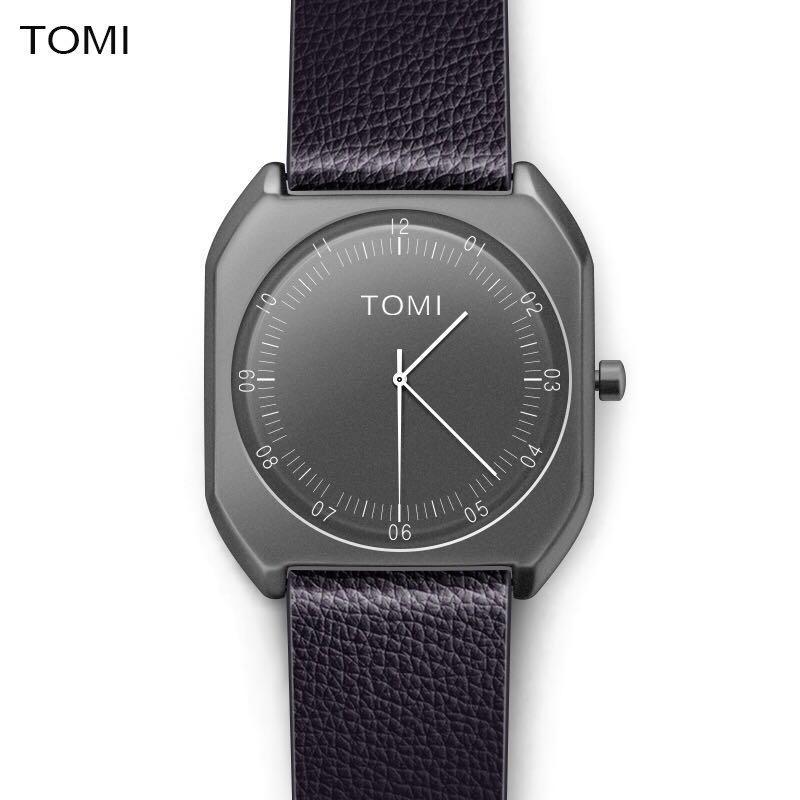 Prix pour TOMI Marque Nouvelle Mode de luxe femme Élégante Montres Simple Ultra Mince cadran Casual Male Horloge À Quartz Homme Montre-Bracelet Cadeau