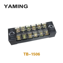 цена на TB-1506 Terminal Block Terminals Plate 600V 15A 6 Position Connection Dual Row Connect Screw Plug-in Wire Connector