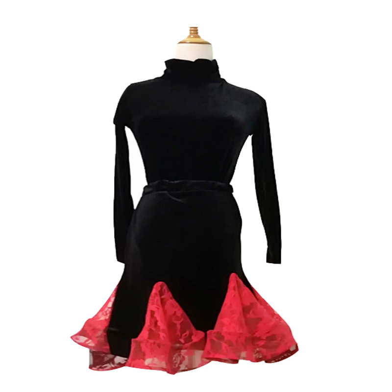 24dec9dea SONGYUEXIA Pattern Latin Half Skirt Woman Dance Clothing Adult Lading Dance  Skirt Practice Package Buttocks Fishbone Skirt-in Latin from Novelty &  Special ...