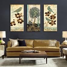 Drop Pengiriman Lukisan Kanvas Gambar Dinding untuk Ruang Tamu dengan Bingkai 3 Potongan Lukisan Modular di Dinding Dekorasi Rumah