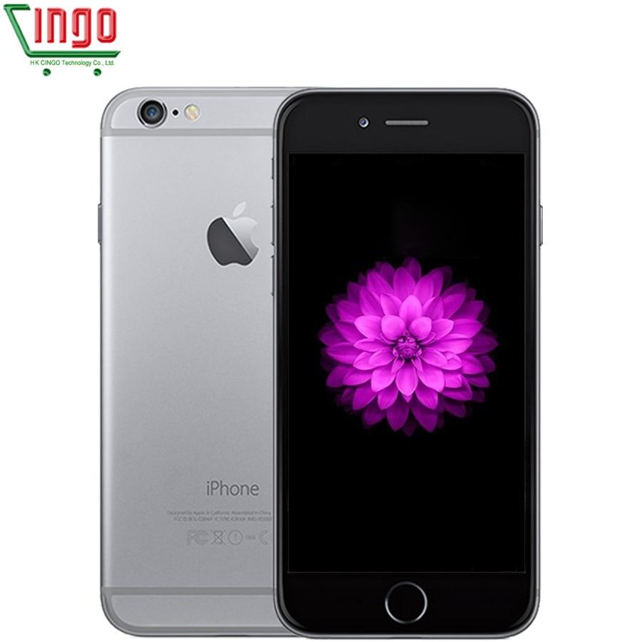 Desbloqueado Apple iPhone 6 1 GB de RAM 4.7 polegada IOS Dual Core 1.4 GHz 16/64/128 GB ROM 8.0 MP Camera 3G WCDMA 4G LTE telefone Móvel Usado